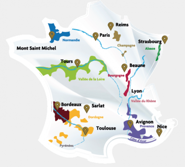map of regions in france dordogne valley